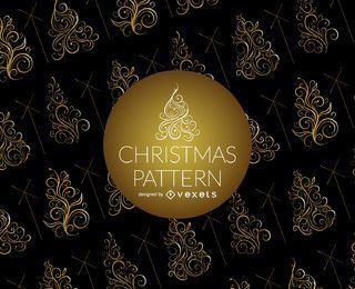 Wirbel Weihnachtsbaum Muster