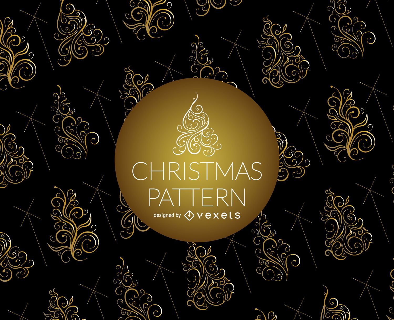 Swirl Christmas tree pattern