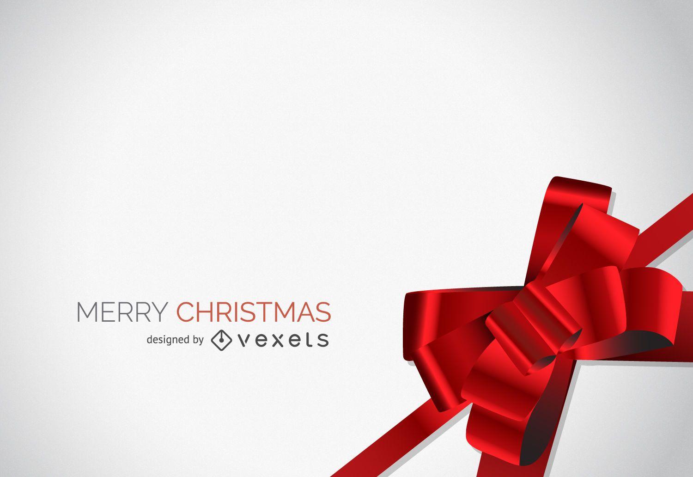 Diseño de fondo de lazo rojo de Navidad
