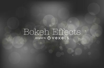 Fondo bokeh en blanco y negro
