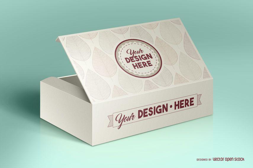 Maquete de embalagem de caixa PSD
