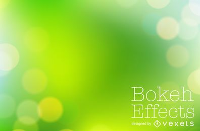 Bright green bokeh background
