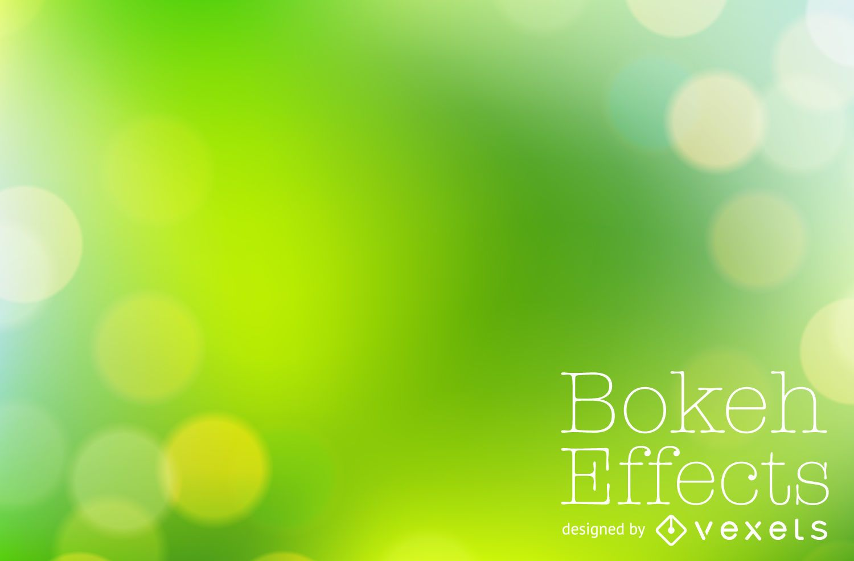 Bright green bokeh background