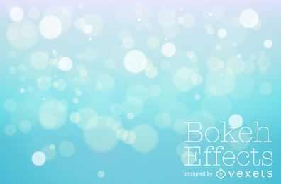Design de fundo azul bokeh
