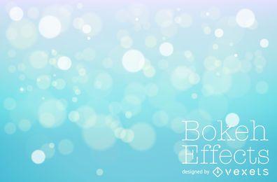 Diseño de fondo azul bokeh