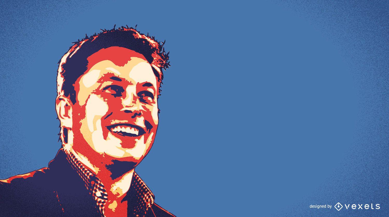 Ilustración de Elon Musk