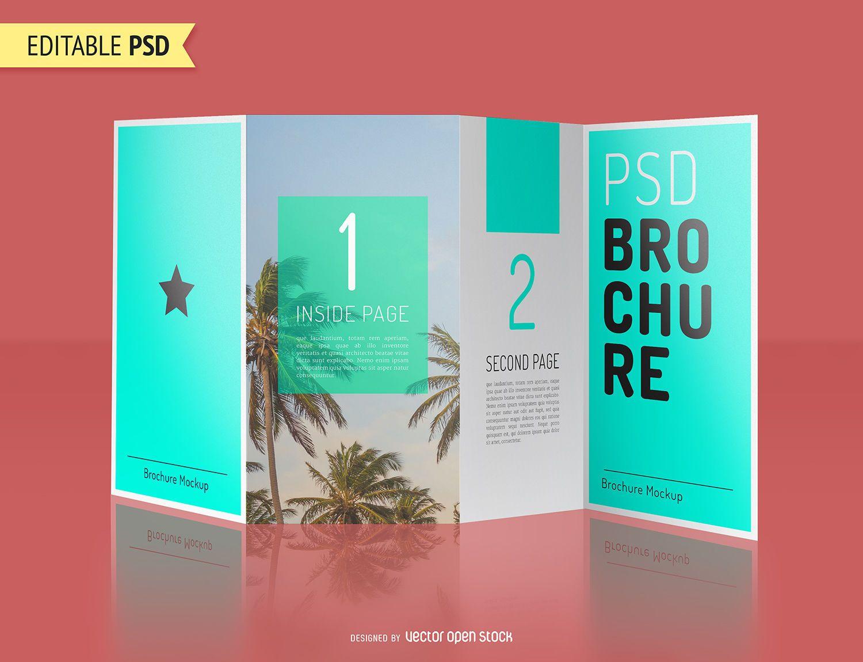 Brochure mockup PSD design
