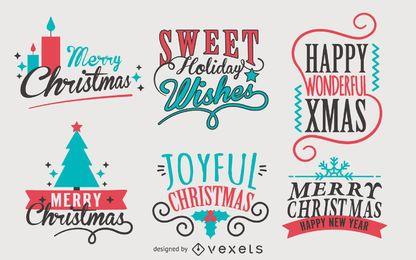 Kalligraphie-Weihnachtskennsatzfamilie