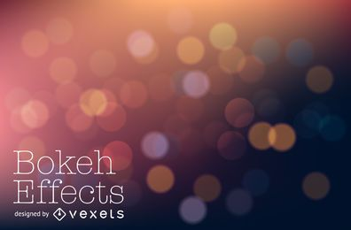 Warm tones bokeh background design