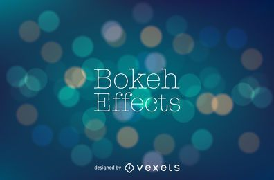 Blue bokeh backdrop design
