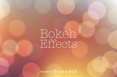 Design de fundo laranja tons bokeh