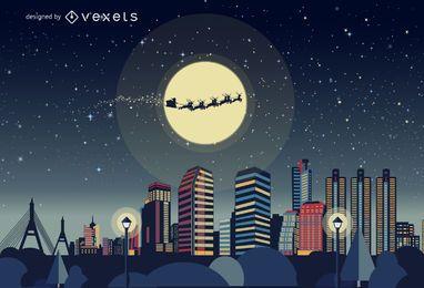 horizonte de Bangkok de Navidad