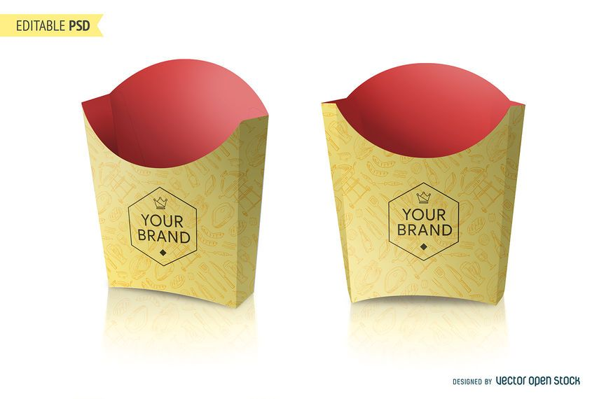 french fries packaging mockup psd psd download