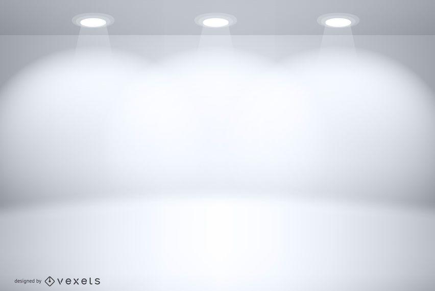 Maquete de cenário de estúdio