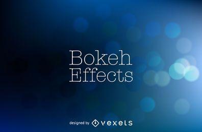 Diseño de fondo azul oscuro bokeh