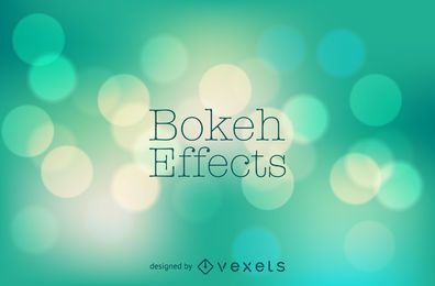 Diseño de fondo bokeh verde pastel