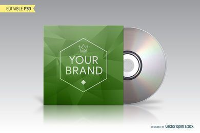 CD embalagem mockup PSD