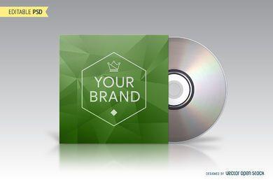Embalaje de CD maqueta PSD