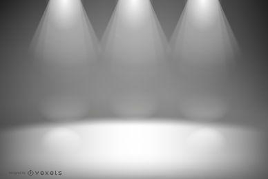 Diseño de fondo de luces de estudio