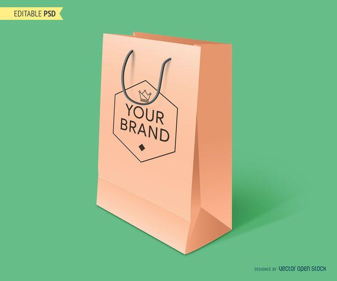 Maquete de sacola de compras PSD
