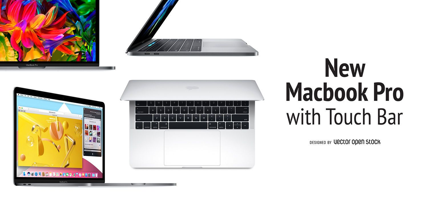 Macbook pro touch bar banner vector download image user reheart Image collections