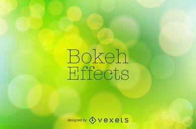 Diseño de fondo bokeh verde brillante