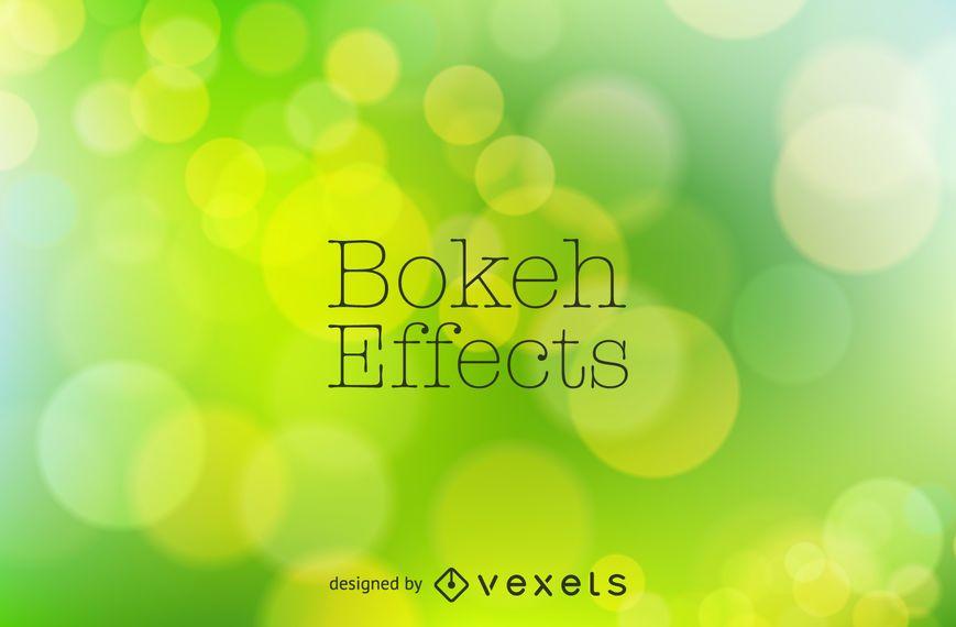 Bright green bokeh background design