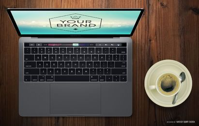 Macbook mockup Bar Touch Pro