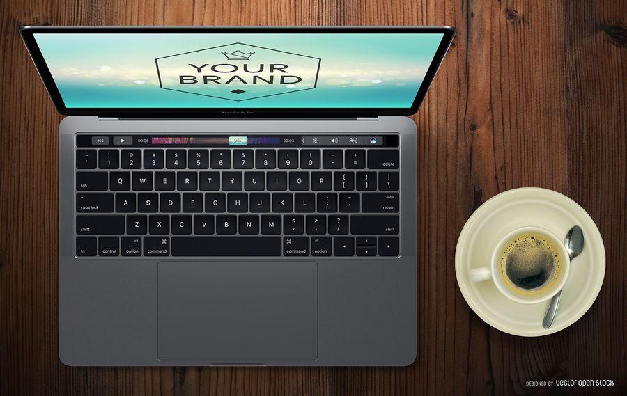 Maquete do MacBook Pro Touch Bar