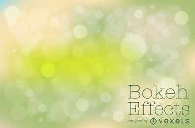 Diseño de fondo bokeh verde