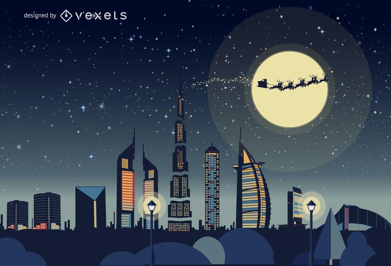 Dubai Christmas skyline