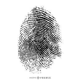 Getrennte Fingerabdruckillustration