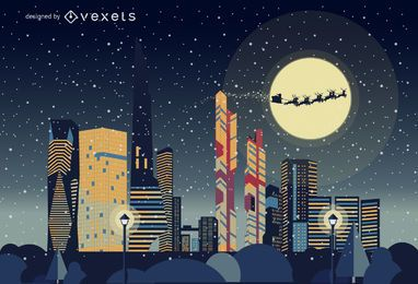 Seoul Christmas skyline landscape