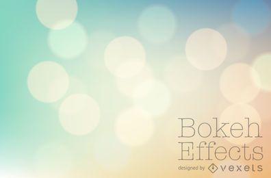 Cenário de bokeh de tons pastel