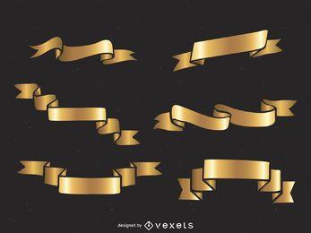 Conjunto de fita dourada