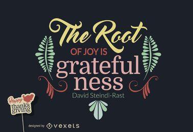 Diseño agradecido de la cita de Thanksgiving