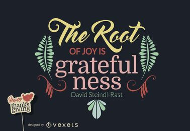 Projeto de citação grato Thanksgiving