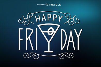 Happy Friday Plakat Zeichen