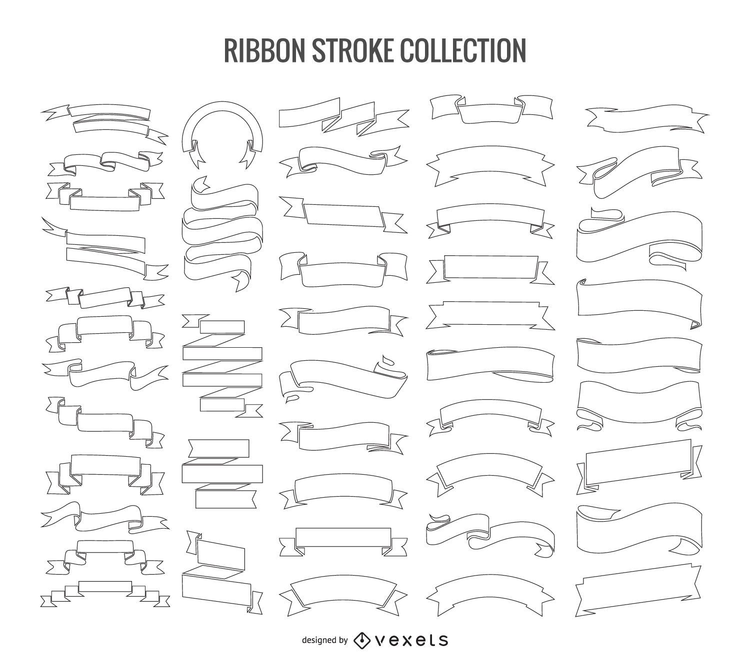 50 stroke ribbons collection