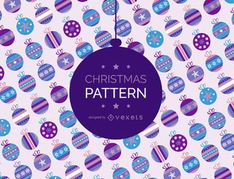 Christmas ball pattern backdrop