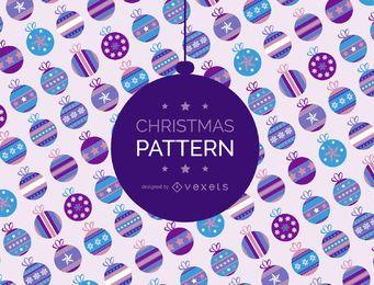 Fondo de patrón de bola de Navidad