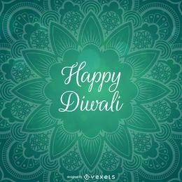 Diwali diseño con mandala