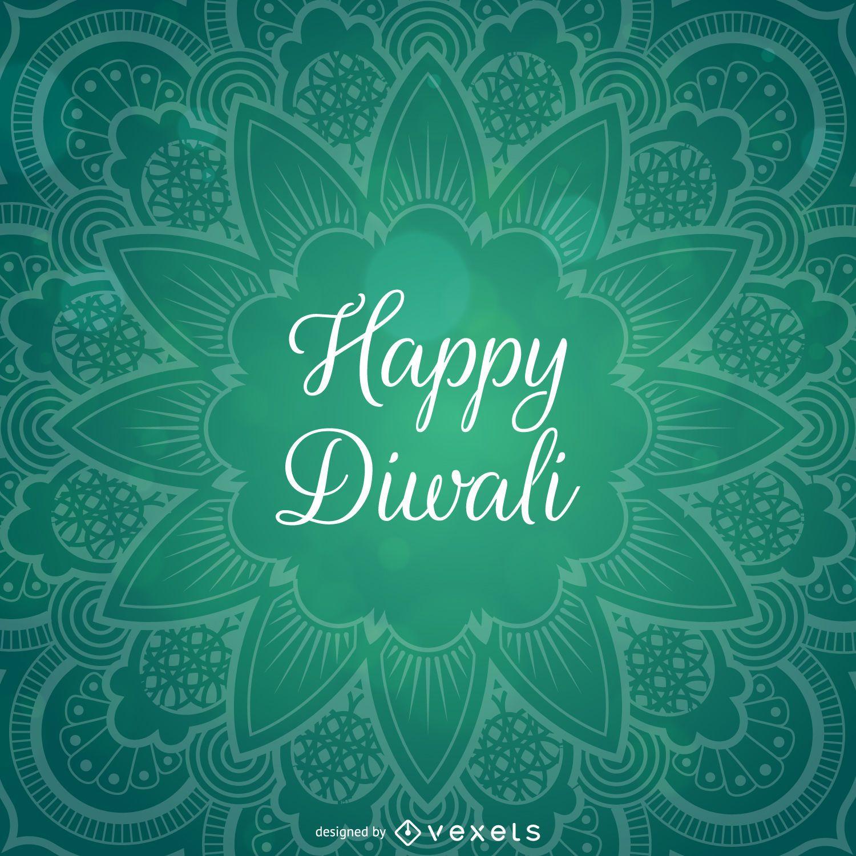 Diseño de Diwali con mandala.