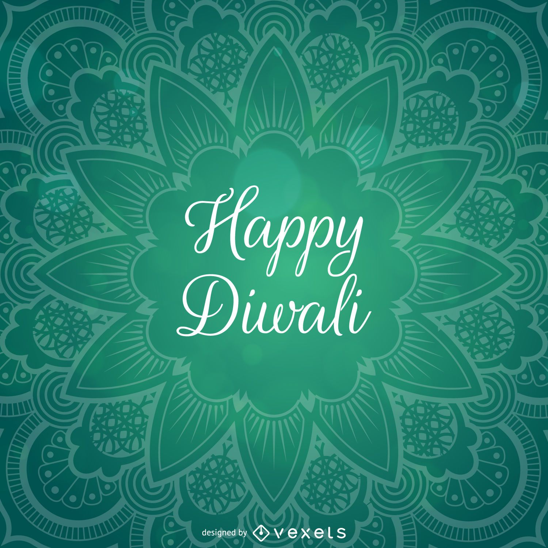 diwali design with mandala