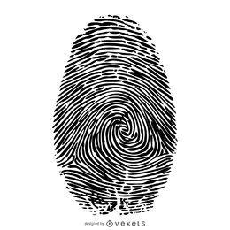 Fingerabdruckillustration