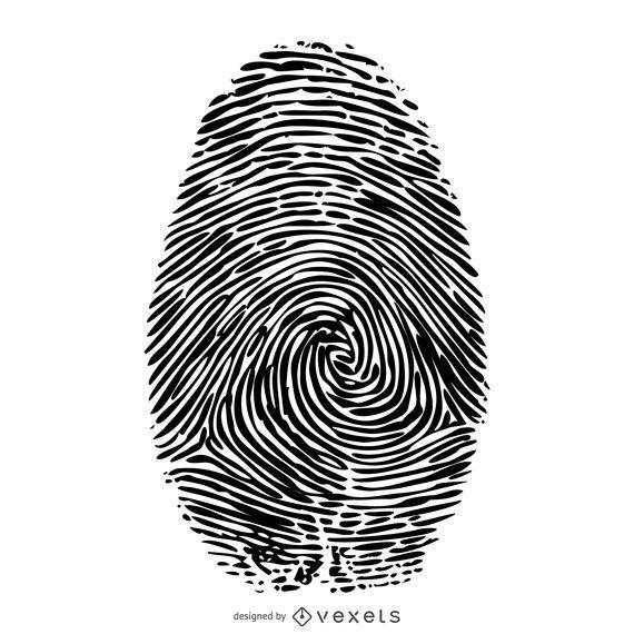 Ilustração de impressão digital
