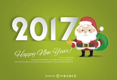 Cartel 2017 con Papá Noel.