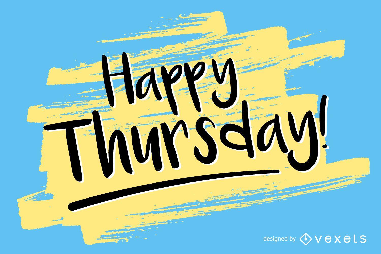 Design de cartaz de feliz quinta-feira
