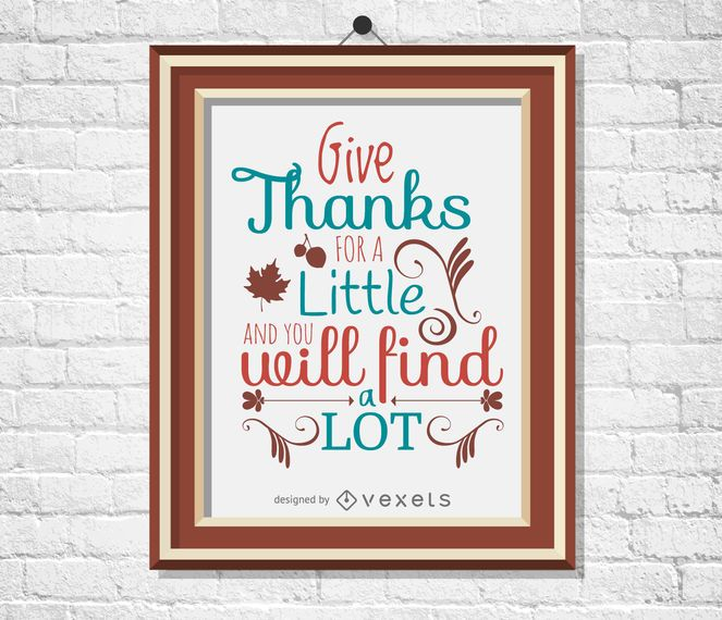Thanksgiving quote poster