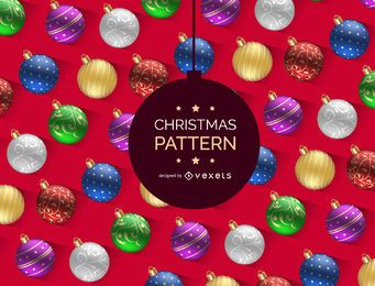 Realistic Christmas ball pattern